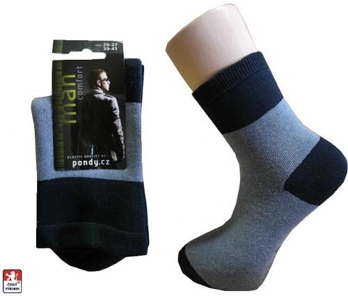 Ponožky pánské jemné celofroté volný lem 6486927f52
