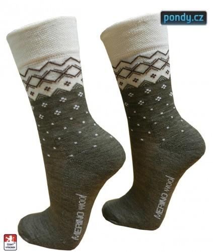 Dámské luxusní MERINO vlněné ponožky 03bd7f249c